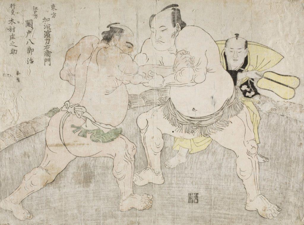 combate de sumo (ilustração)