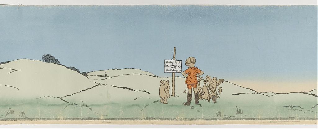 Ilustração original the Ernest Howard Shepard para os livros infantis de Winnie The Pooh