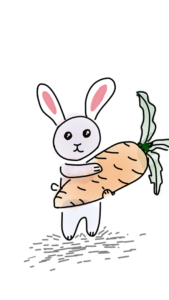 Hábito do coelho comer cenouras