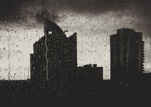 Chuva à janela